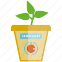 leaves, plant, pot, seed, sensor icon