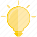 bulb, creative, electric, idea, light, lightbulb icon