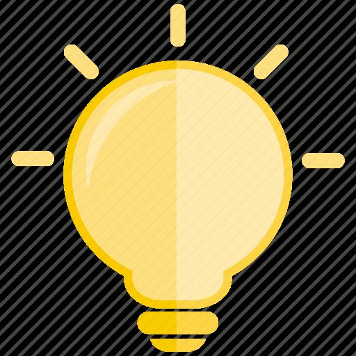 bulb, creative, electric, idea, light, lightbulb icon