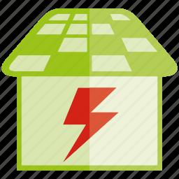 charging, energy, power, roof, solar, solar panel icon