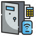 buildings, construction, control, door, electronic, house, technology