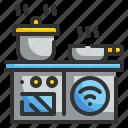 cabinet, furniture, household, kitchen, kitchenware, restaurant, technology