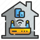 communication, connectivity, internet, modem, router, technology, wifi icon