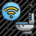 bathroom, electronic, hygiene, sanitary, technology, toilet, washroom icon