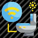 bathroom, electronic, hygiene, sanitary, technology, toilet, washroom