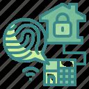 crosshair, electronic, finger, fingerprint, scan, security, technology