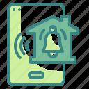 alarm, alert, alerting, bell, instrument, notification, ring icon