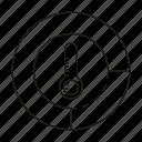 sensor, temperature, thermometer icon