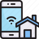 control, digital, house, network, smart home, smartphone and home, technology icon