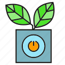 automation, leaves, plant, pot icon