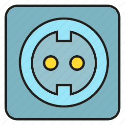 electricity, energy, outlet icon