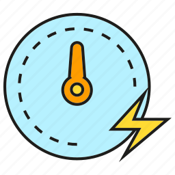 bolt, electricity, energy, gauge, measure, meter, power icon