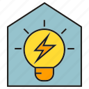 electricity, energy, home, house, light bulb, power, smart home icon