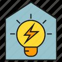 electricity, energy, home, house, light bulb, power, smart home