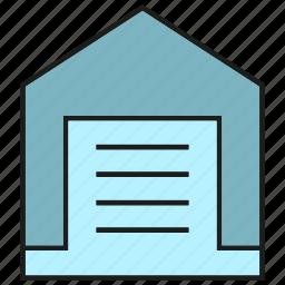 door, garage, home, house icon