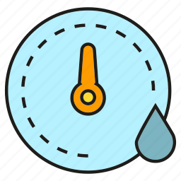 drop, gauge, measure, meter, scale, water icon