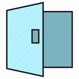 door, lock, open, security icon