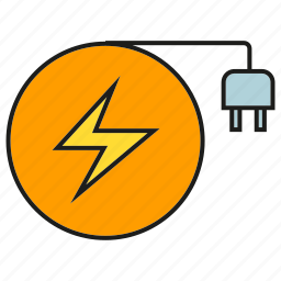 bot, electricity, energy, plug, power icon