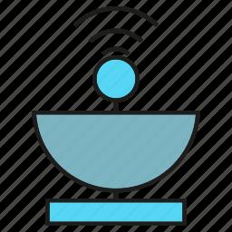 communication, satellite dish, signal icon
