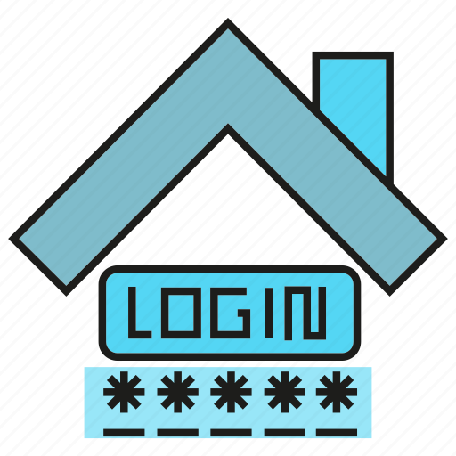 home security, house, login, password icon