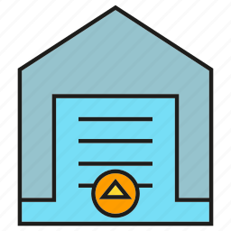 auto door, home, house, smart home icon