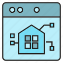home automation, smart home, tablet icon