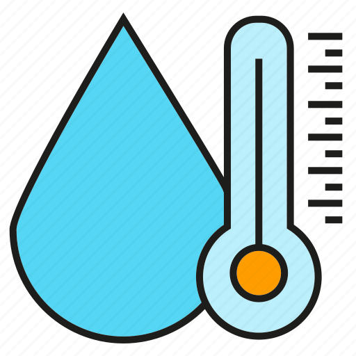 drop, thermometer, water icon
