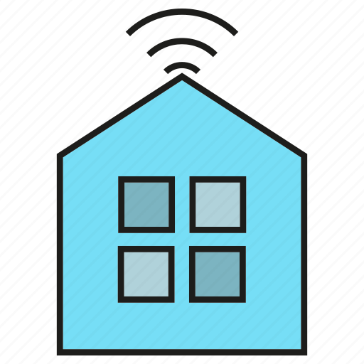 automation, house, internet, smart home, wifi icon
