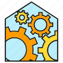 automation, cog, gear, home