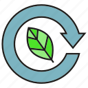 arrow, eco, leaf, reserve icon