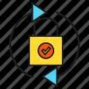 lock, security, protection, arrow, key icon
