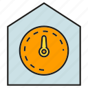 gauge, house, measure, meter, smart home icon