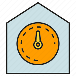 gauge, house, measure, meter, smart home icon