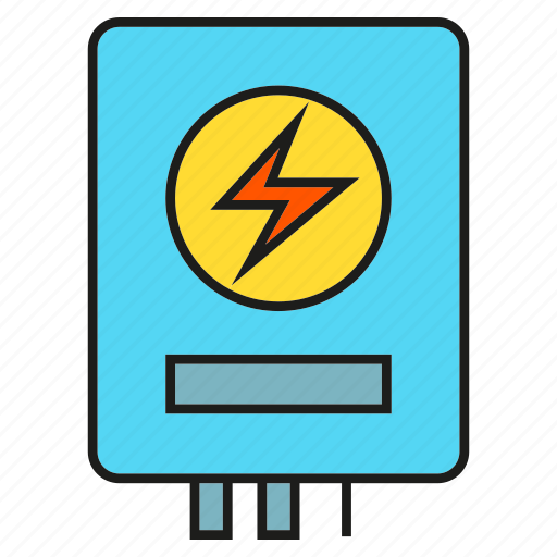 electricity, electronic, household, water heater icon