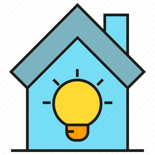 electricity, home, house, light bulb icon