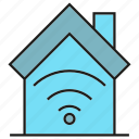 home automation, house, internet, smart home, wifi icon