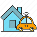 car, home, house, smart car icon
