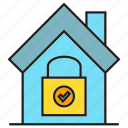home, home security, house, key, lock, security