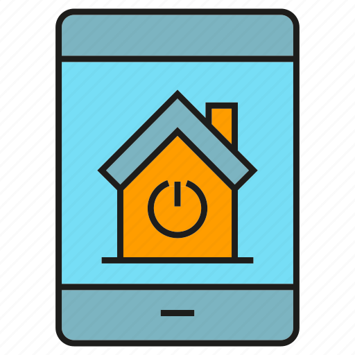 control, house, mobile, phone, remote, smart home icon
