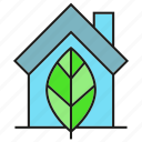 eco, home, house, leaf icon