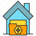 folder, home, house, medical home, nursing home icon