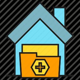 folder, home, house, medical home, nursing home icon