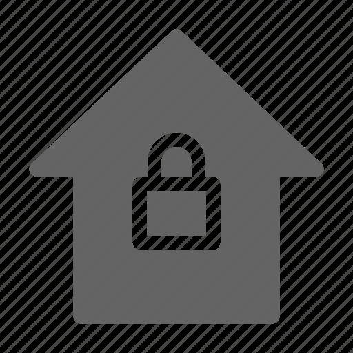 control, home, lock icon