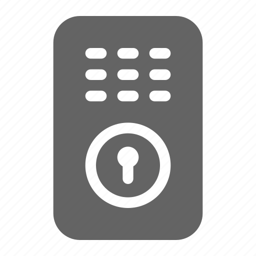 keypad, lock, smart icon