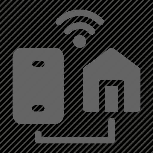 connectivity, home, smartphone icon