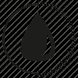 control, drop, scale, sensor, water icon