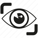 eye scan, iris scan, monitor, scan, secure, sensor icon