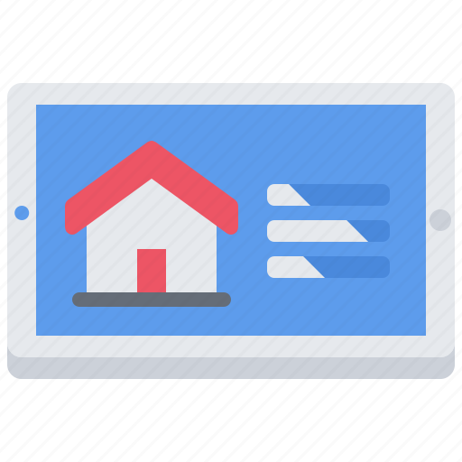 house, internet, metric, setting, smart, tablet, things icon