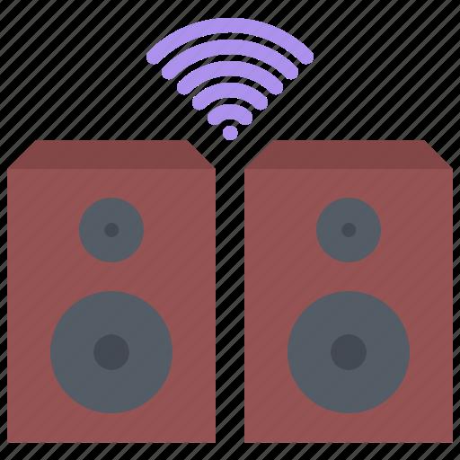 house, internet, music, smart, speaker, things icon