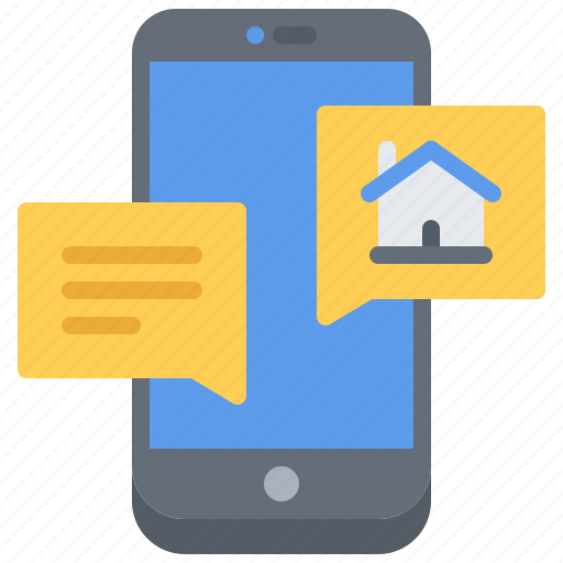 bot, house, internet, message, messenger, smart, things icon
